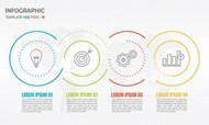 抽象圆信息图表矢量模板