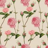 复古粉红玫瑰无缝图案矢量下载