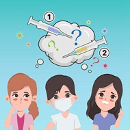 医院接种疫苗插画矢量模板