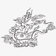 中国龙图案矢量下载