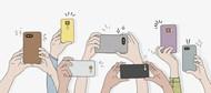 手机拍照手势矢量素材下载