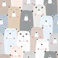 无缝可爱的熊背景矢量图下载