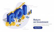 投资回报率概念登录页矢量素材下载