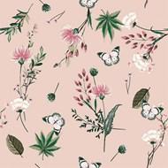 无缝花卉图案矢量图