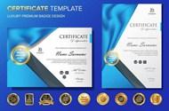 专业证书模板矢量素材下载