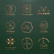 瑜伽平衡徽标矢量模板
