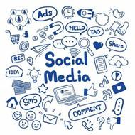 社交媒体背景矢量图