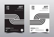 艺术设计宣传单矢量素材