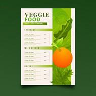 渐变设计沙拉菜单矢量素材