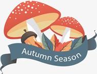 秋季卡通蘑菇矢量下载